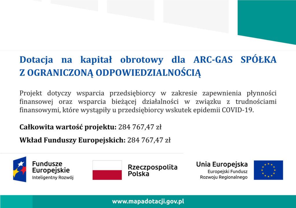 Informacja o dotacji z funduszy Europejskich